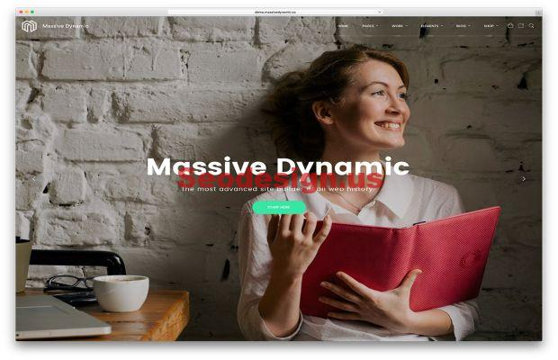 Massive one page wordpress theme download