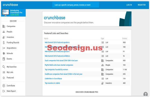 crunchbase website