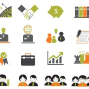 16 Black Green Business Icons Download