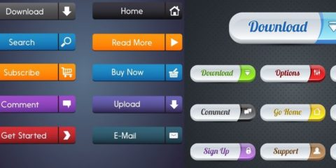 UI Shape Web Commercial Buttons