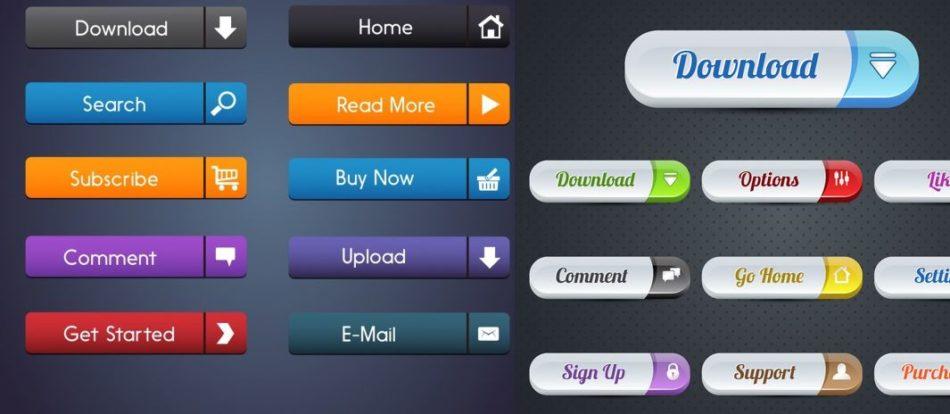 UI Shape Web Commercial Buttons