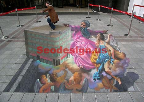 3D Graffiti Street Illustrations