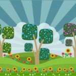 5 Cute Spring Cartoon Drawing Vectors