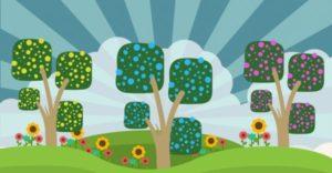 5 Cute Spring Cartoon Drawing Vectors
