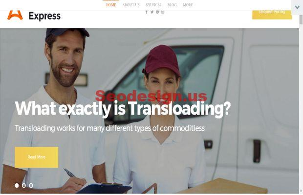 AuroraExpress - Transportation Company Responsive WordPress Theme