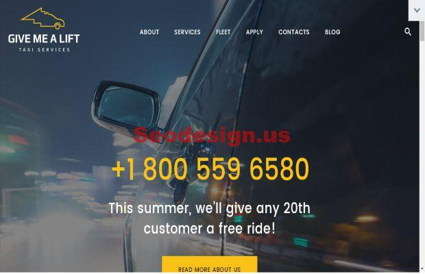 Give Me A Lift - Transportation & Taxi Services WordPress Theme