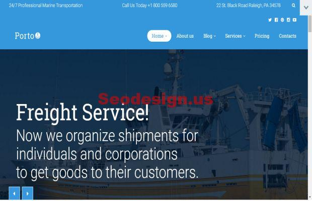 10+ Premium WordPress Logistics Themes for Transportation ...